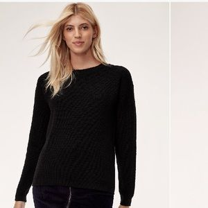 WILFRED ISABELLI WAFFLE-KNIT CREW SWEATER
